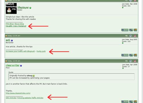 Закупка подписей на форумах