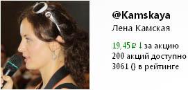 Цена на акции в Twi Stock Елены Камской