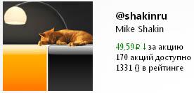 Акции на Twi Stock аккаунта в Твиттере Михаила Шакина