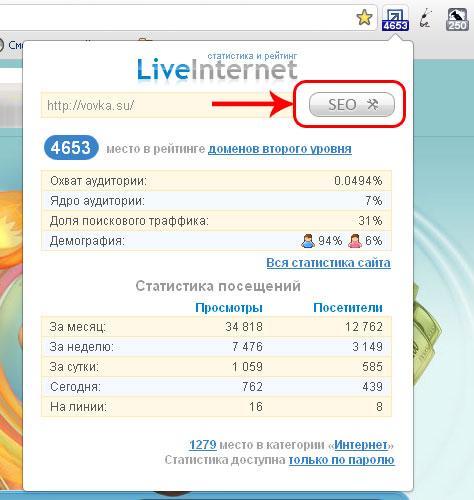 Бесплатный тулбар от LiveInternet