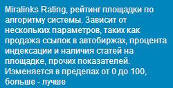 Миралинкс рейтинг