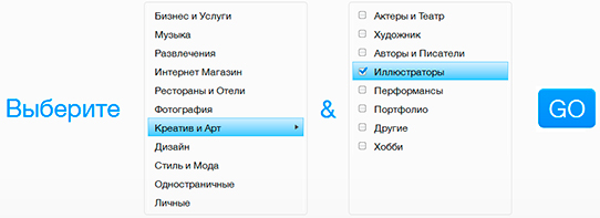Выбор шаблона в Wix