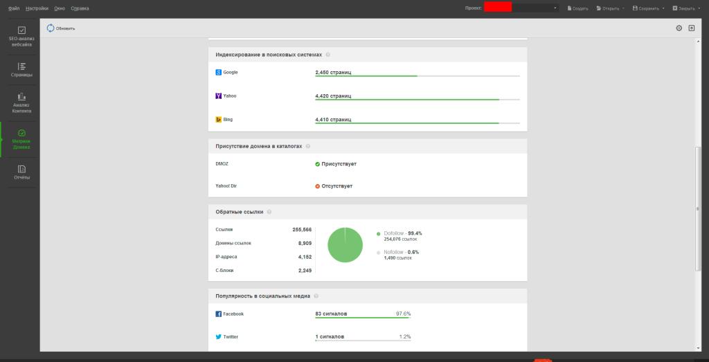 Мониторинг домена