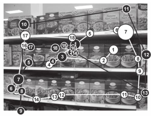 Карта внимания покупателя мужчины и женщины