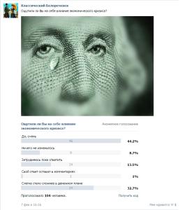 Обычный опрос во Вконтакте